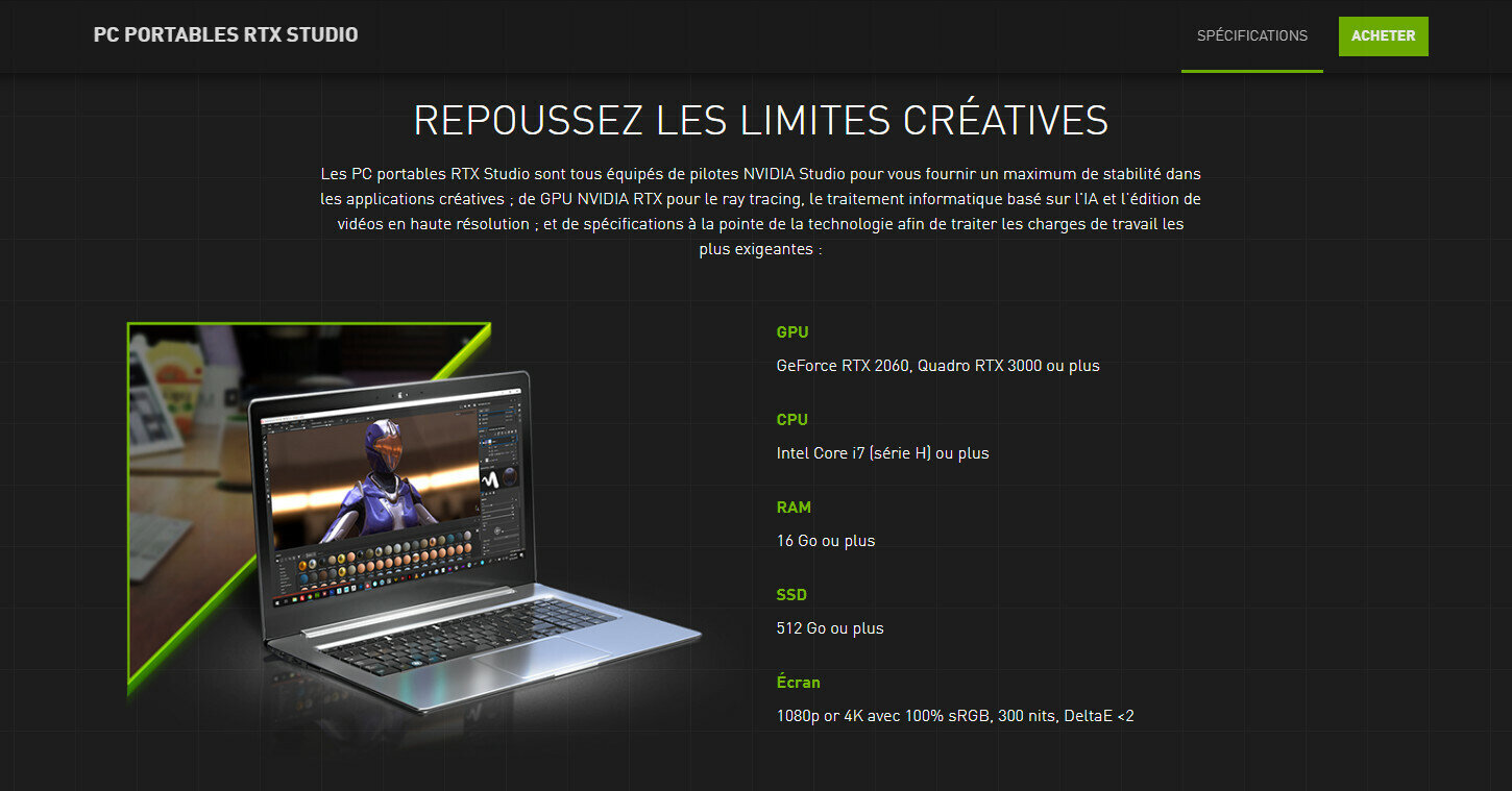 NVIDIA Studio RTX Laptops