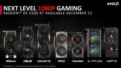 AMD Radeon RX 5500 XT Slides