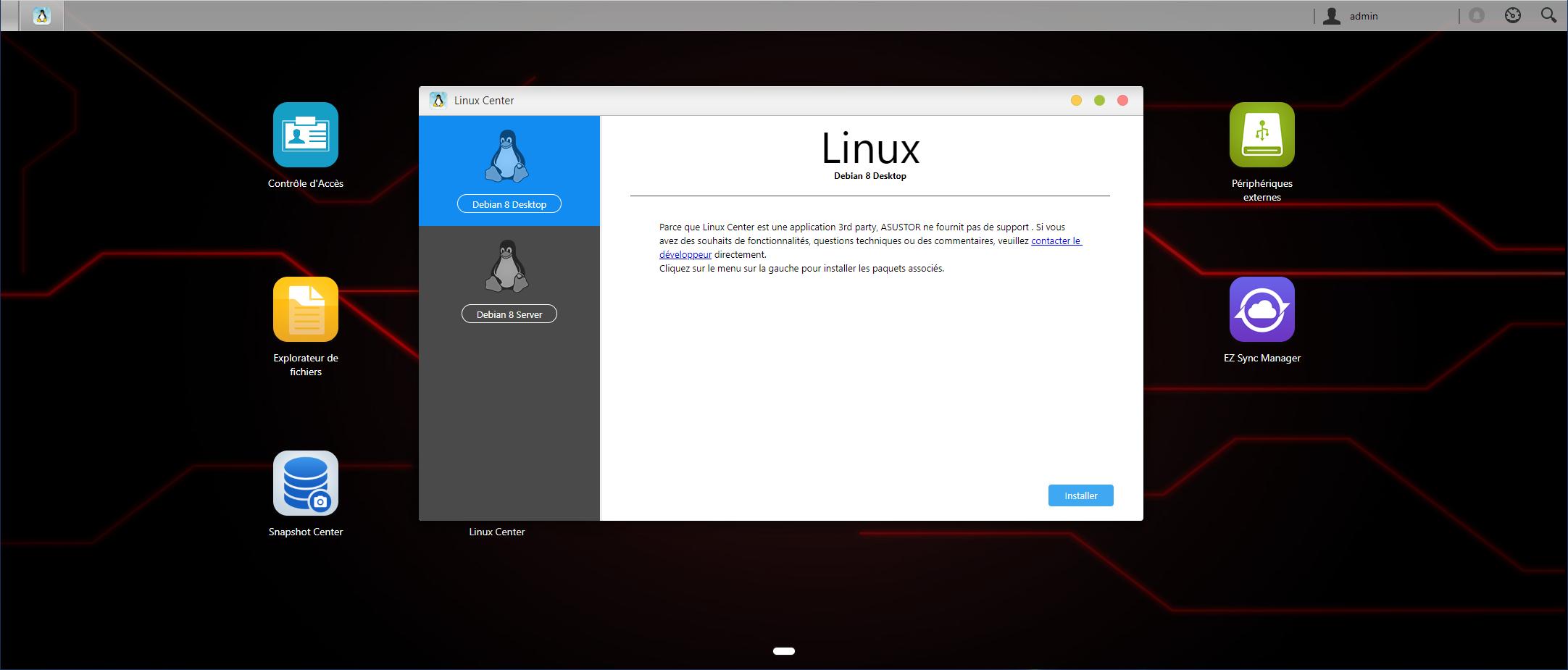 Asustor ADM 3.4 Linux Center