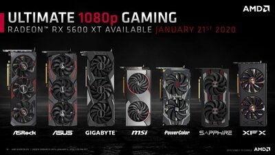 Radeon RX 5600 XT Slides CES 2020