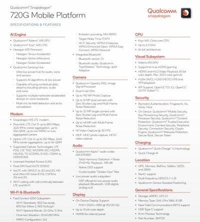 SoC Snapdragon 720G