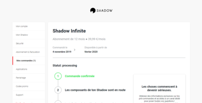 Blade Shadow Nouvelle Offre