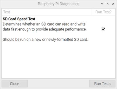 Raspberry Pi SD Card Speed Test