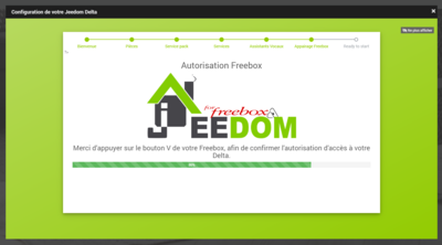 Jeedom Freebox Delta Configuration