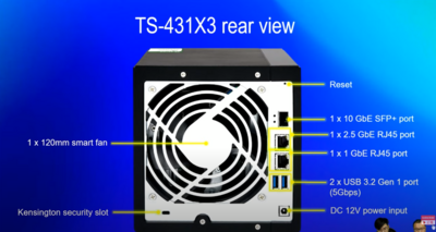 QNAP TS-x31P3 TS-431X3