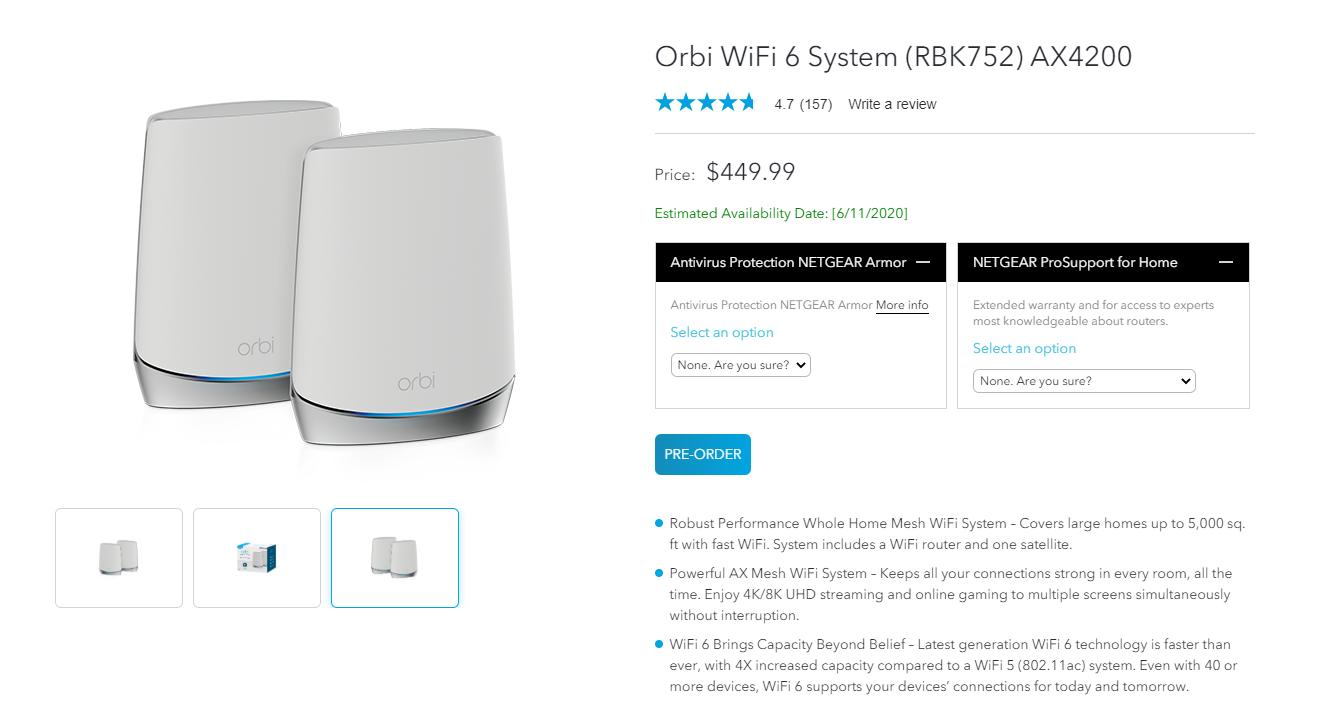 Netgear Orbi RBK752