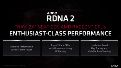 AMD Roadmap RDNA 2020
