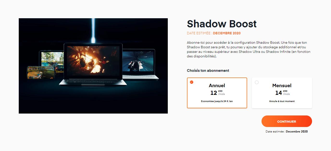 Shadow Boost Décembre 2020