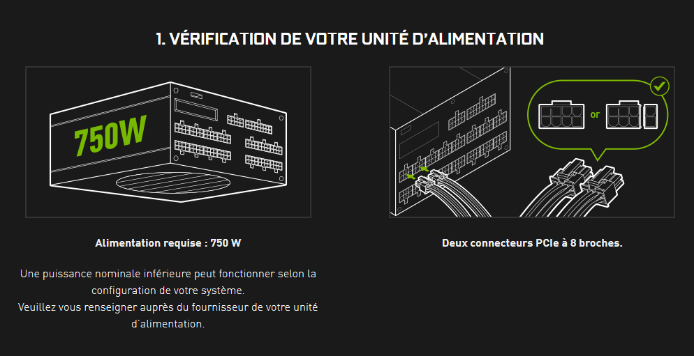 NVIDIA RTX 30 Series Ampere Alimentation