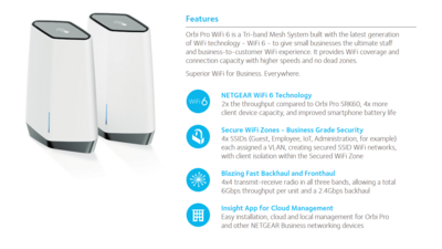 Netgear Orbi Pro Wi-Fi 6 SXK80