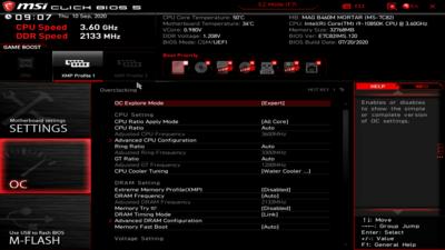 MSI MAG B460M Mortar UEFI