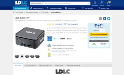 LDLC Cubic MP1 ECS Liva Q2