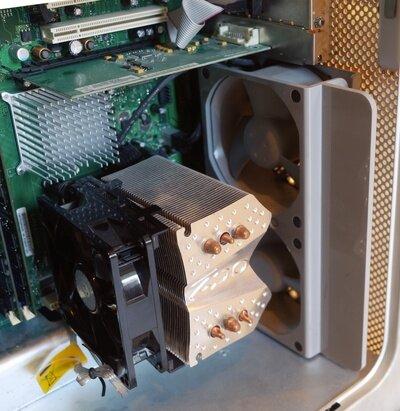 Le ventirad stock a été remplacé