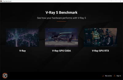 V-Ray Benchmark 5 - Interface