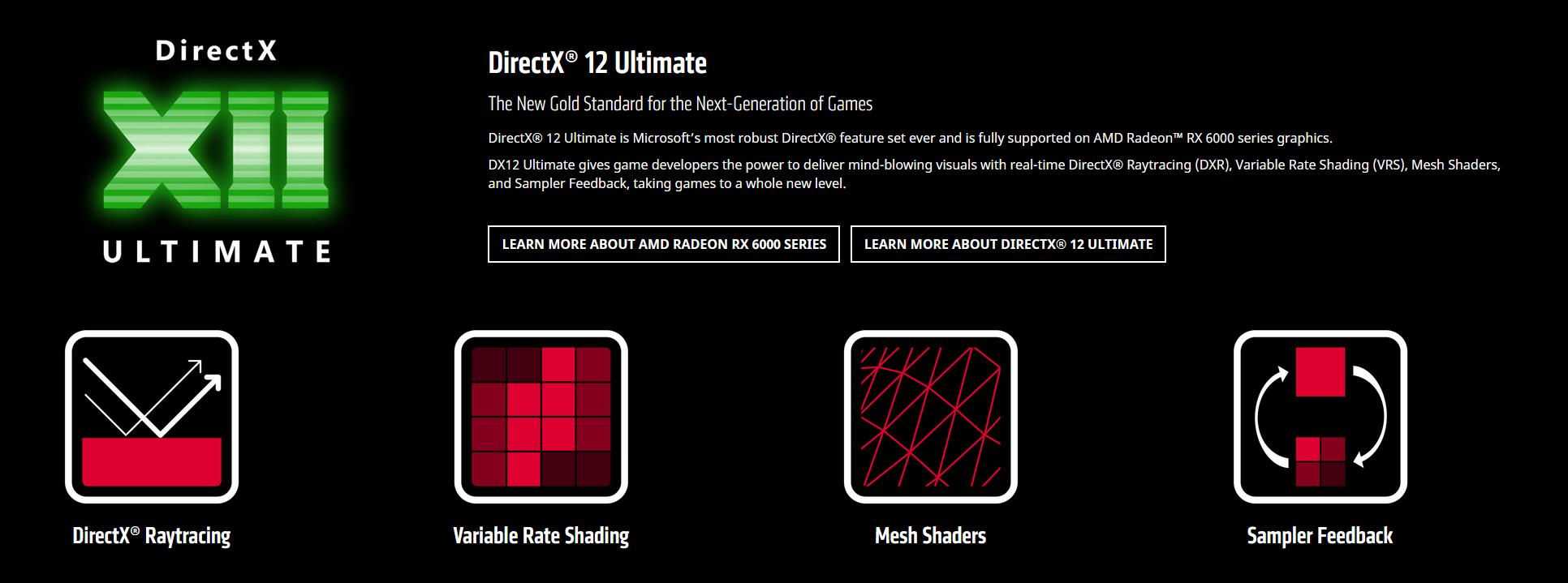 AMD DirectX Ultimate RDNA 2