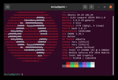 MSI GL65 Leopard Ubuntu