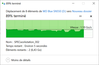 WD Blue SN550 500 Go Lecture