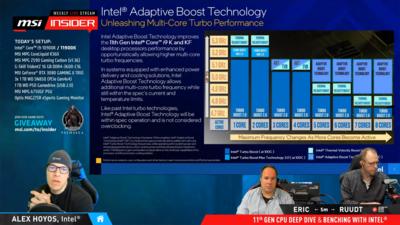Core 11e Génération Rocket Lake Adaptative Boost ABT