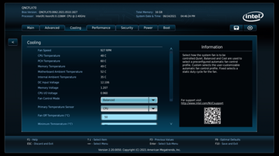 Intel NUC 9 Pro Quartz Canyon UEFI