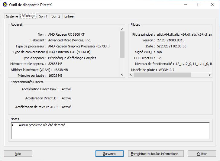 DirectX 12 dxdiag