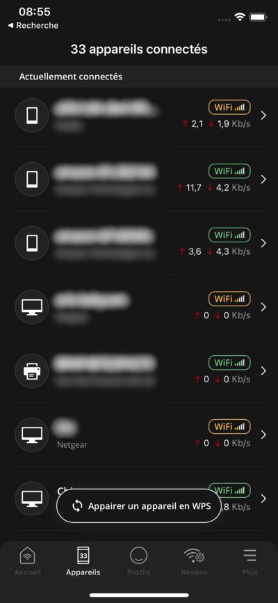 Freebox Connect Appareils