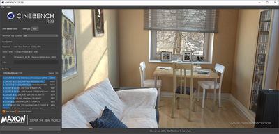 Windows 365 CineBench R23