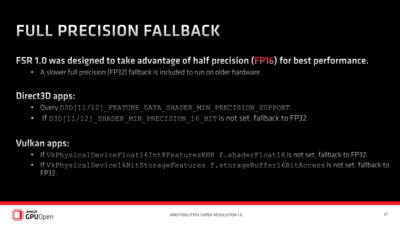 AMD FSR Technique