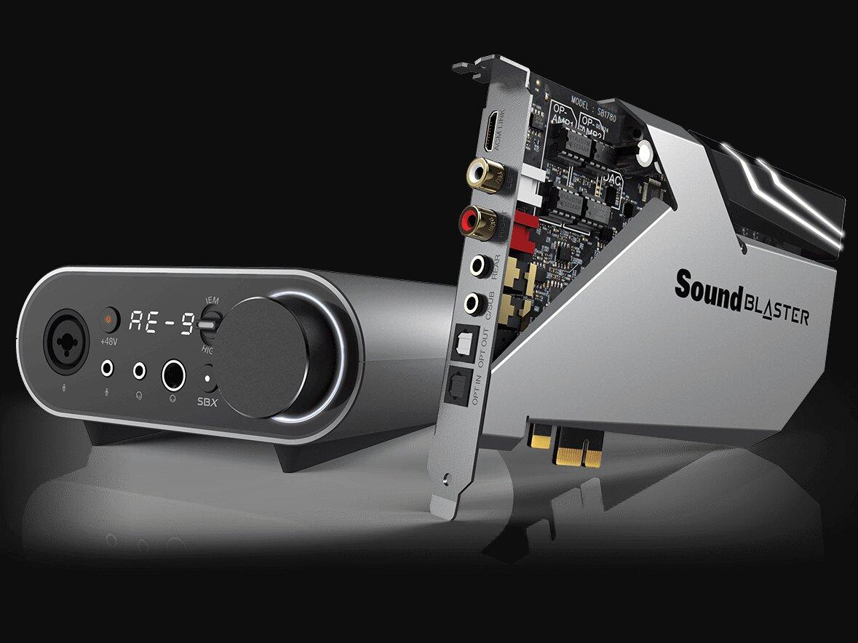 Sound Blaster AE-9 et AE-7 : cartes son PCIe avec ESS SABRE et Audio Control Module, dès 240 euros