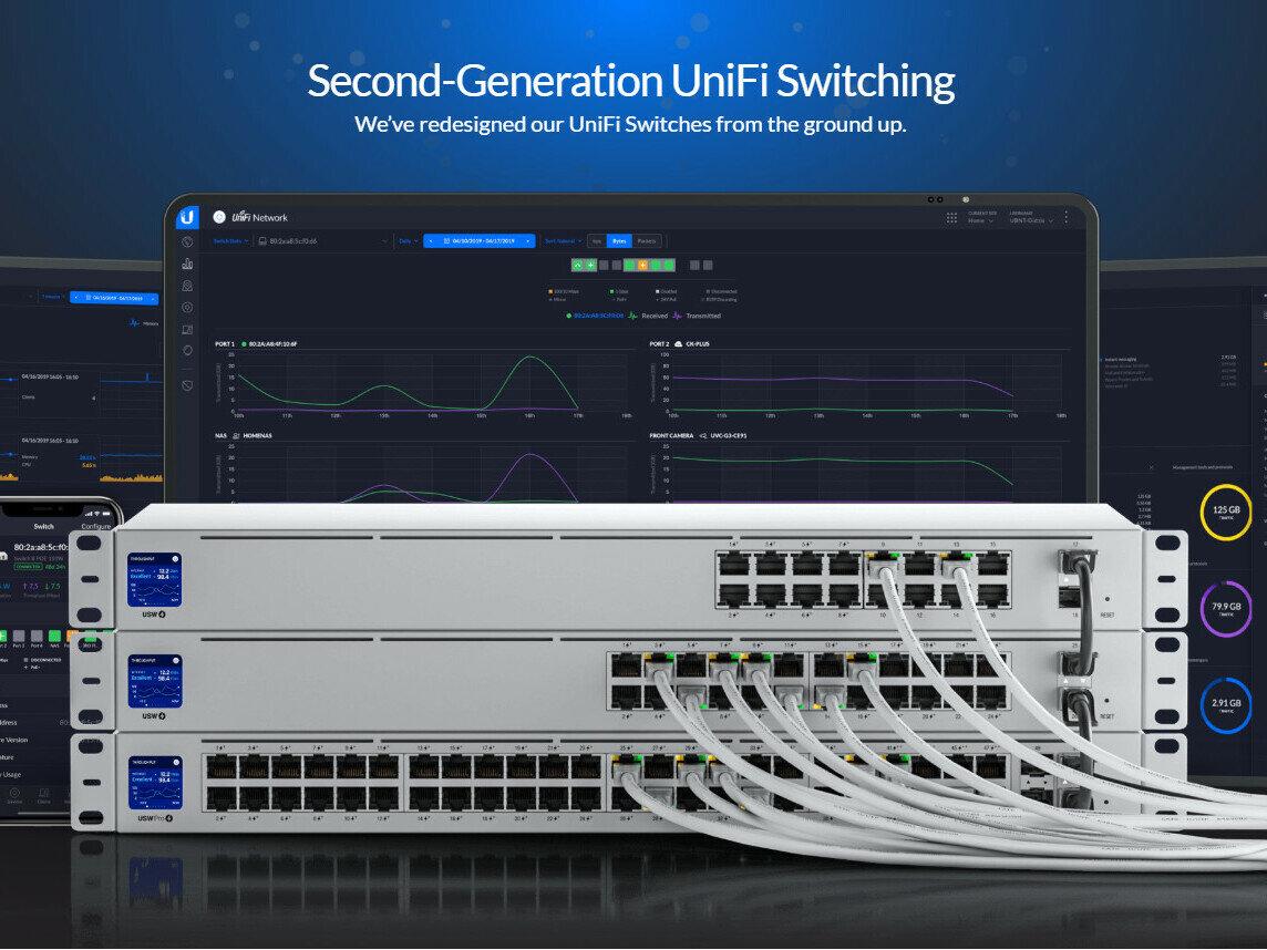 Ubiquiti dévoile ses switchs UniFi « Gen 2 », certains avec PoE++ (802.3bt)