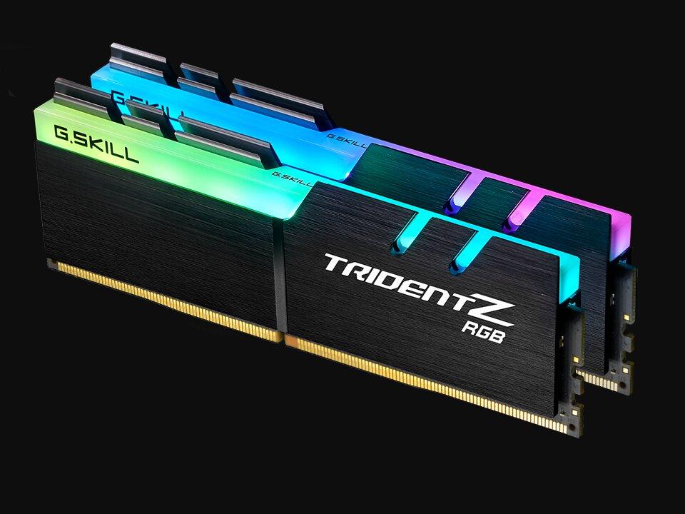 Kits Trident Z de 64 à 256 Go chez G.Skill, avec des barrettes DDR4-3200 de 32 Go en CL14