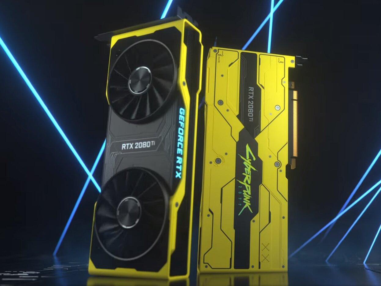 NVIDIA et CD Projekt RED dévoilent une GeForce RTX 2080 Ti aux couleurs de Cyberpunk 2077