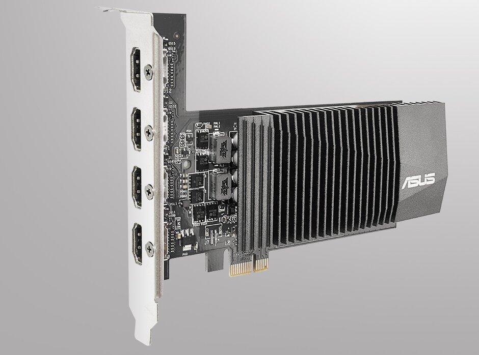 GeForce GT 710 d'ASUS (GT710-4H-SL-2GD5) : PCIe x1 et HDMI x4 peuvent vous sauver la mise