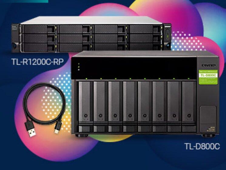 TL-D800C et TL-R1200C-RP : QNAP propose deux unités d'extension USB 3.2 à 10 Gb/s