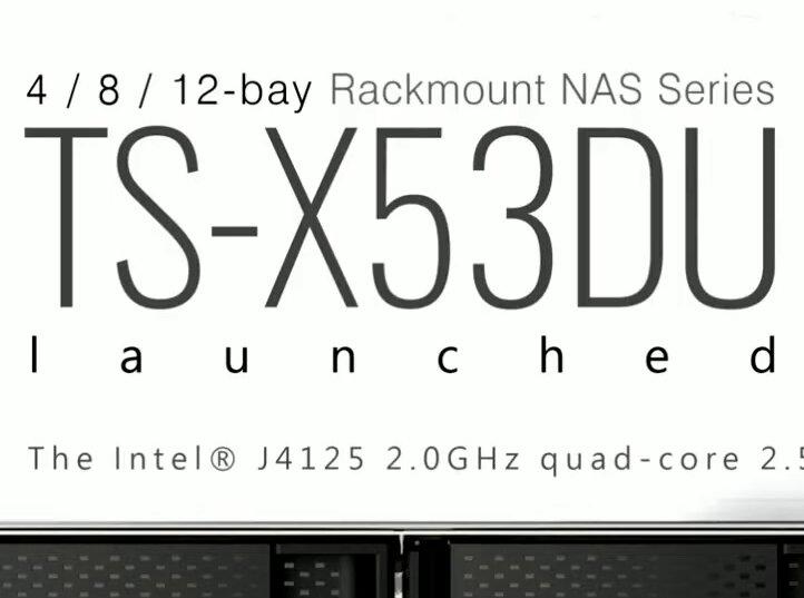TS-x53DU : 2,5 Gb/s et Celeron J4125 débarquent dans les NAS rackables de QNAP