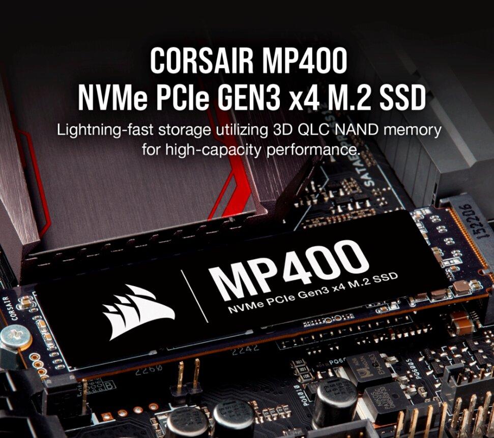 Corsair lance ses SSD M.2 MP400 : jusqu'à 3,4 Go/s et 8 To de stockage