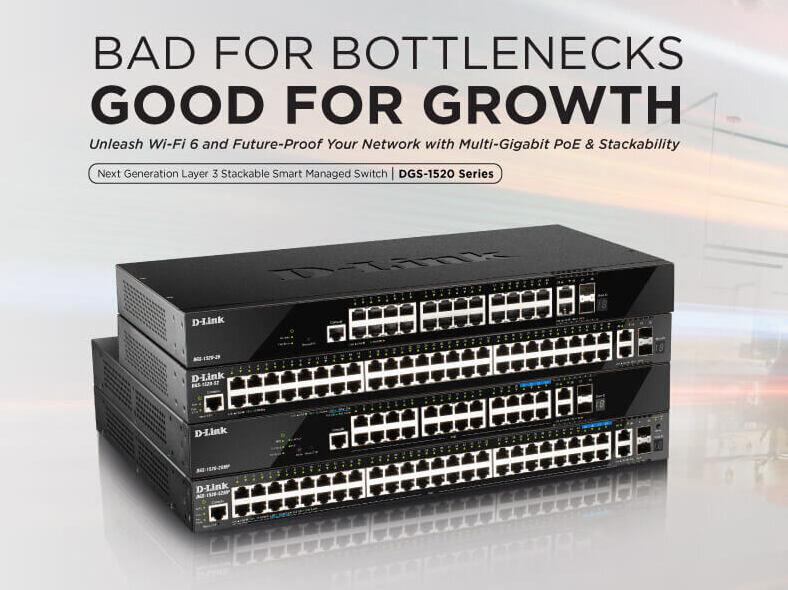 DGS-1520 : D-Link dévoile ses switchs 10G avec 2,5G et PoE+ parés «pour le Wi-Fi 6»
