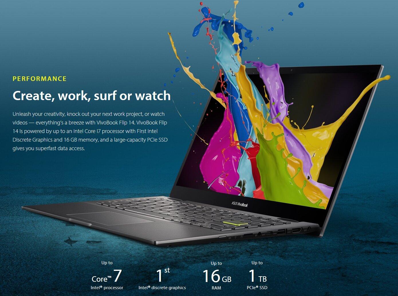VivoBook Flip 14 (TP470EZ) : ASUS intègre le GPU mobile DG1 d'Intel dans un portable hybride
