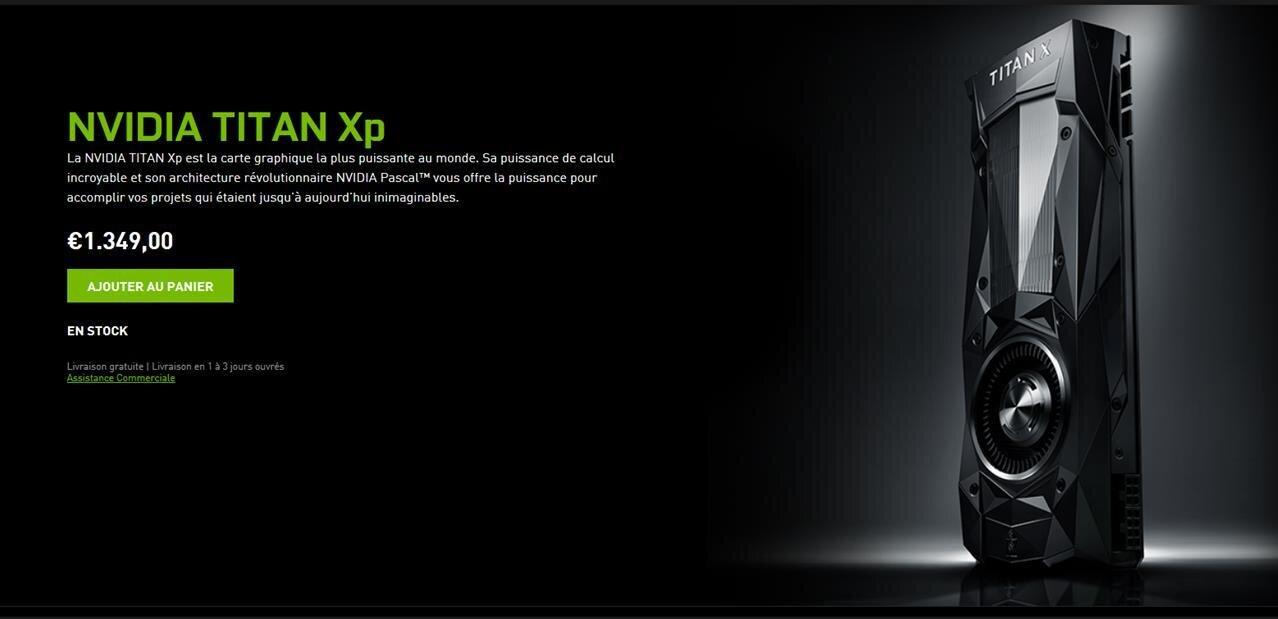 Après la GeForce GTX 1080 Ti, NVIDIA annonce sa Titan Xp à 1349 euros