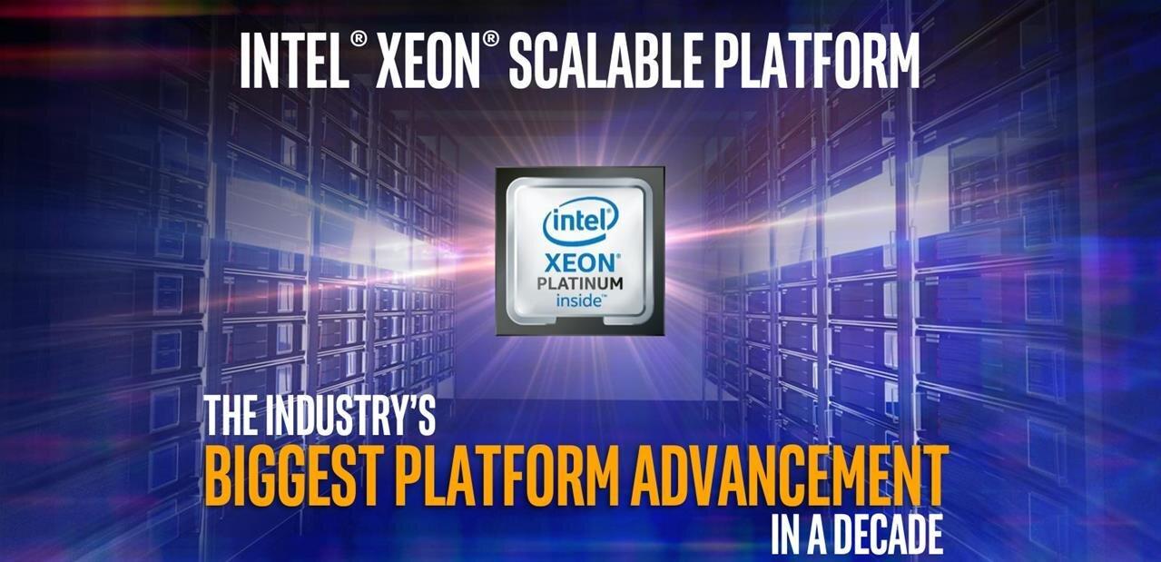 Xeon Scalable : Intel dévoile sa nouvelle gamme de processeurs pour serveurs