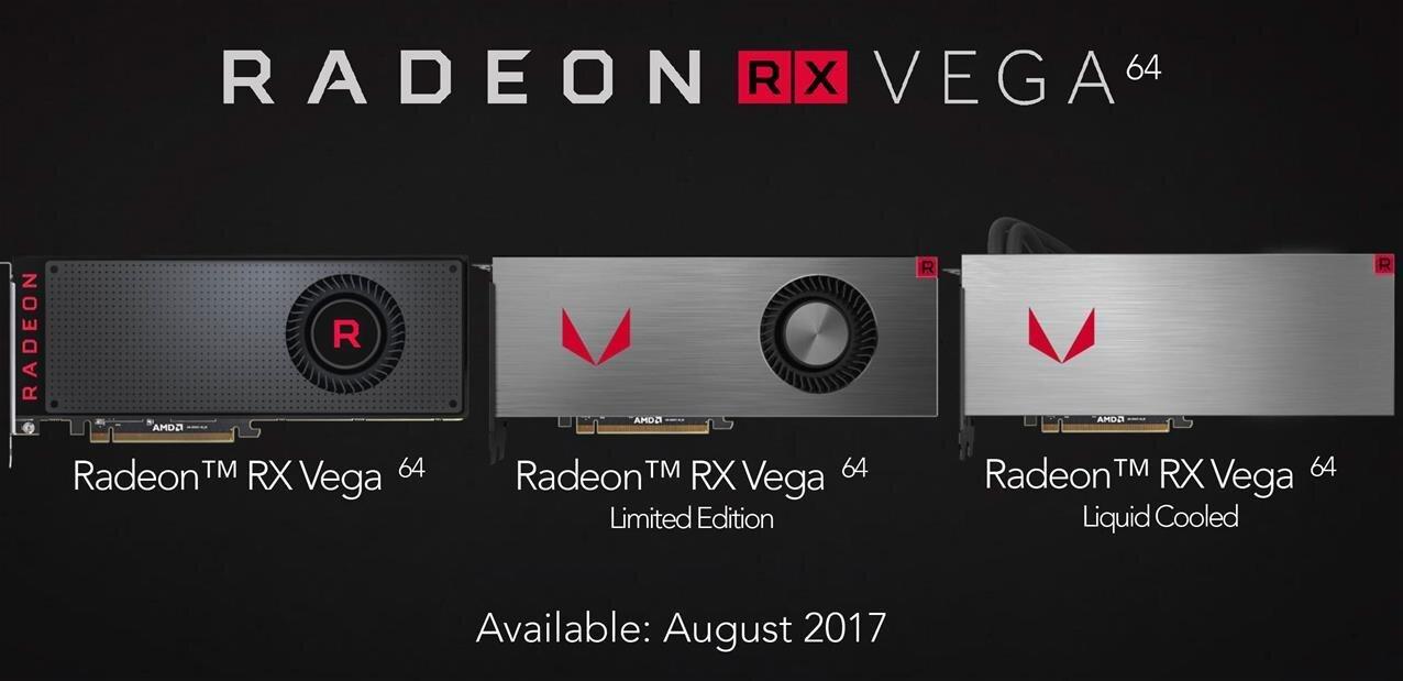 AMD dévoile ses Radeon RX Vega : mise en vente à partir du 14 août, dès 399 dollars