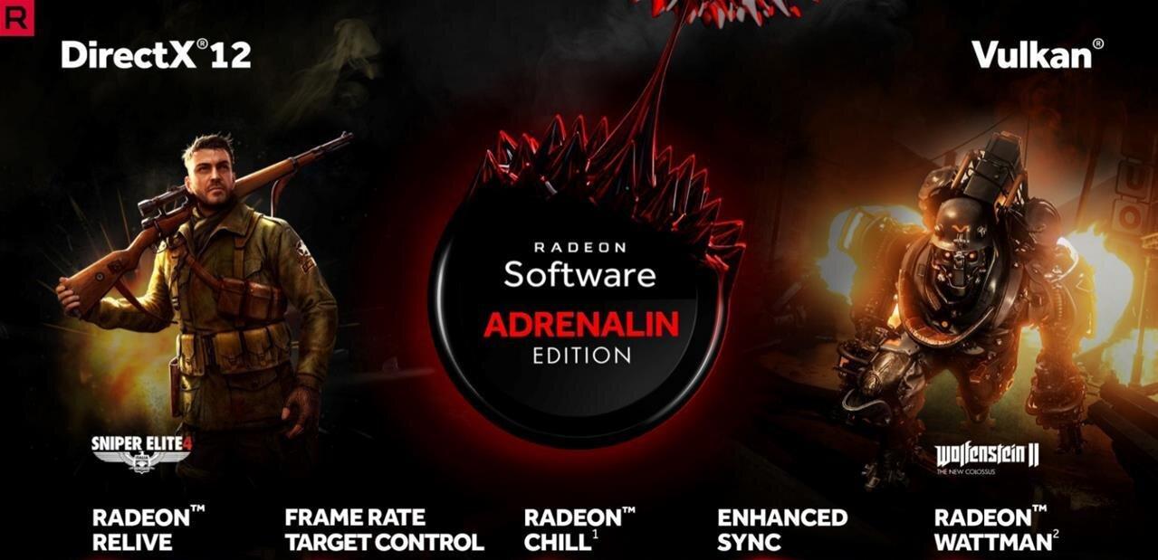Radeon Software Adrenalin : support étendu de Vulkan, de Linux, overlay vidéo et AMD link