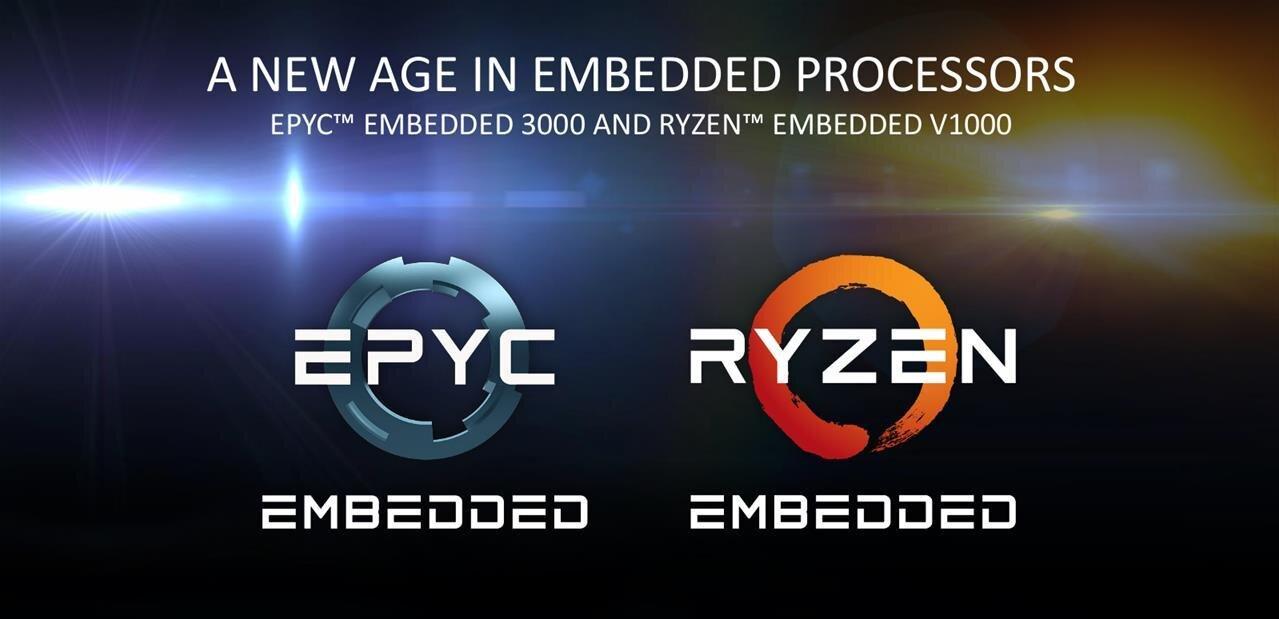 EPYC 3000 et Ryzen V1000 : l'architecture Zen d'AMD à la sauce 10 GbE pour l'embarqué