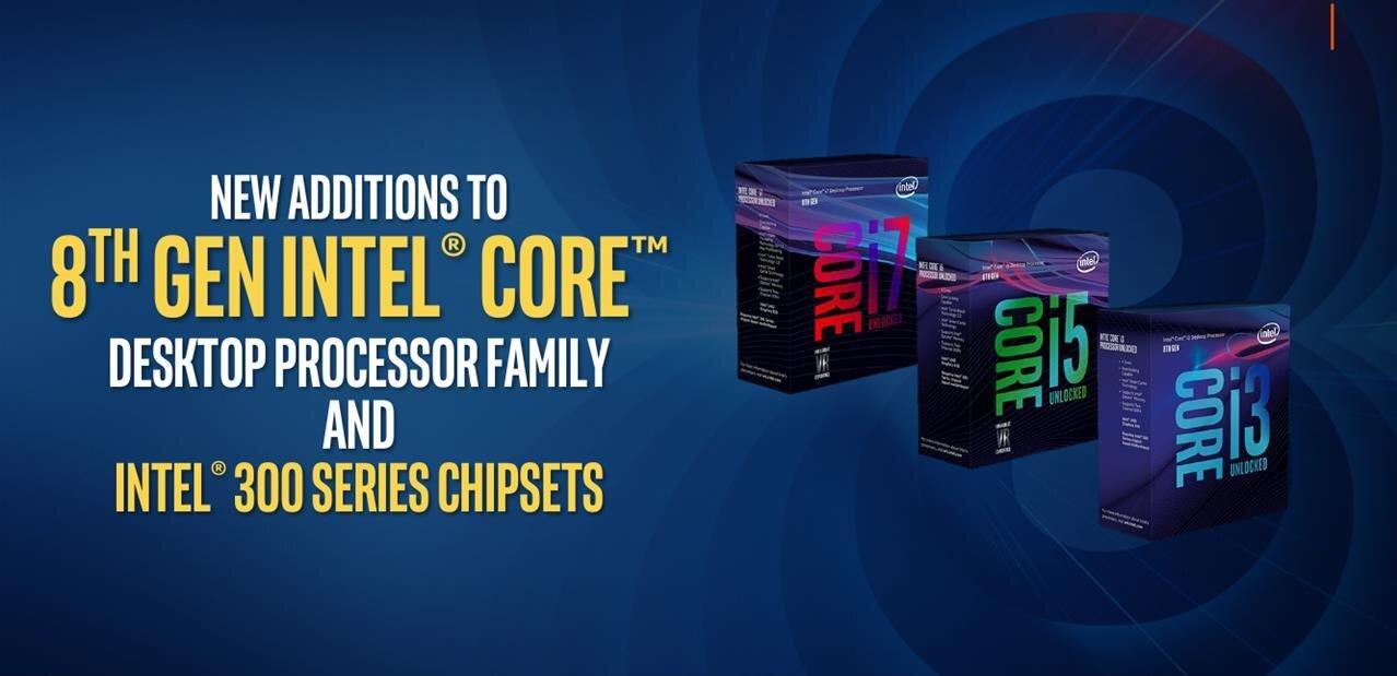 Coffee Lake : Intel propose de nouveaux processeurs (Core i9, série « + ») et chipsets