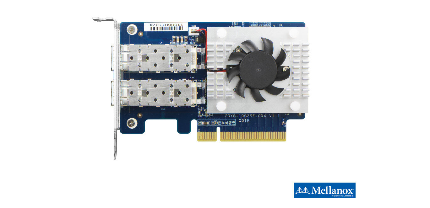 QNAP passe ses NAS à 2x 25 Gb/s via des cartes Mellanox à ports SFP28