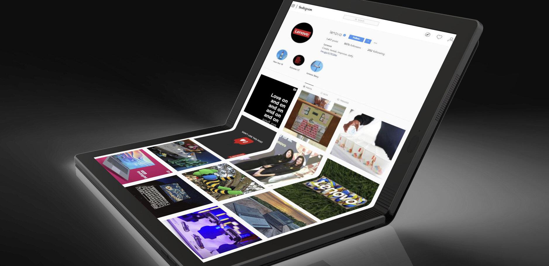 PC portable pliable en deux : Lenovo présente son prototype d'un nouveau ThinkPad X1