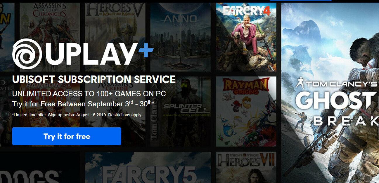 Ubisoft annonce son abonnement Uplay+ à 15 euros par mois