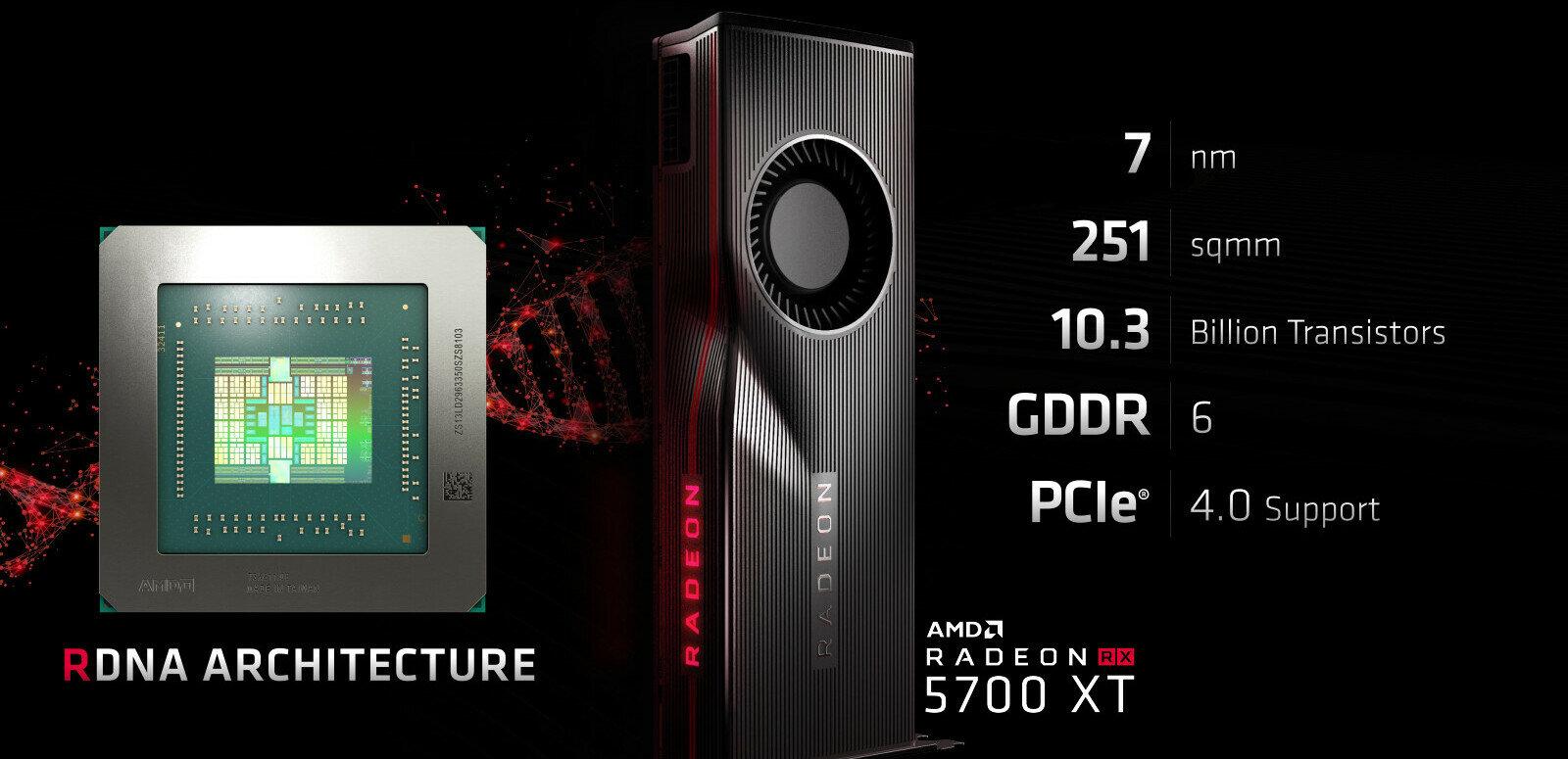 Navi, RDNA, RX 5700 (XT) : AMD détaille ses nouvelles Radeon