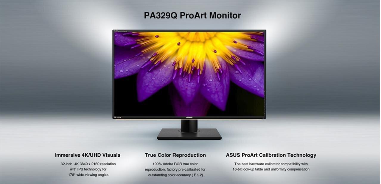 ASUS fait le plein d'écrans : un ProArt 4K précalibré, un FreeSync et deux G-Sync