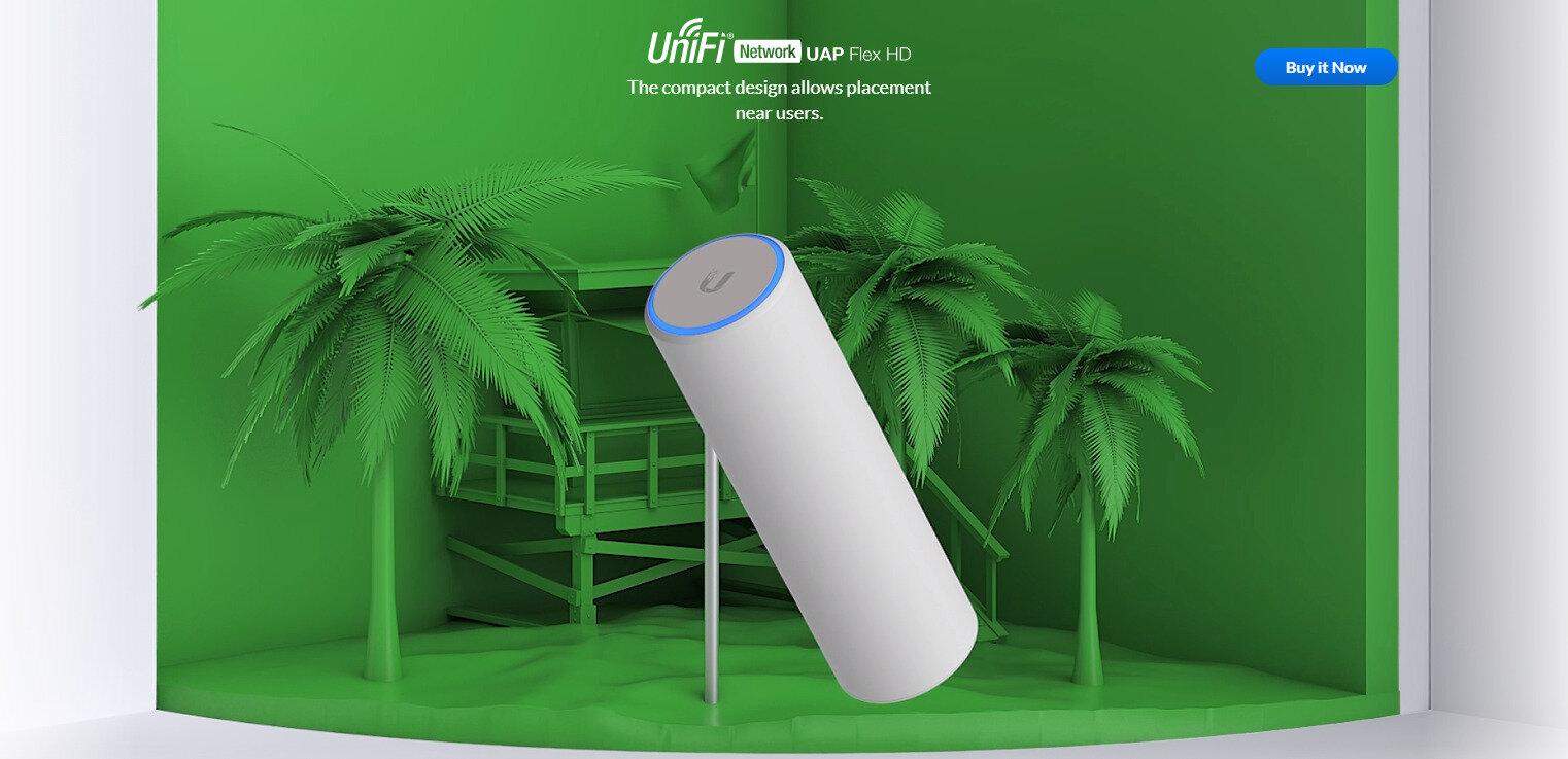 Ubiquiti annonce son point d'accès UniFi Flex HD : nouveau design, plus compact