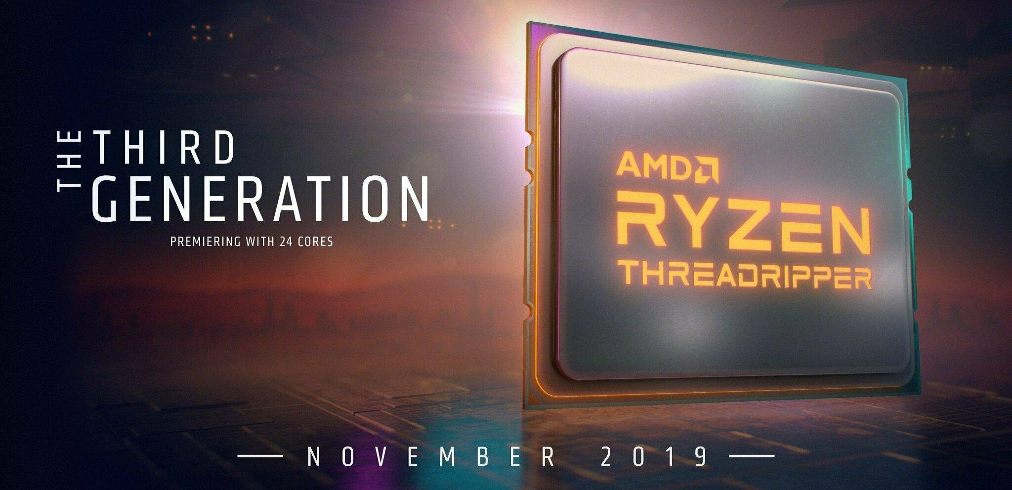 Ryzen Threadripper 3990X : comme prévu, AMD annonce son CPU à 64 cœurs (sans tarif)